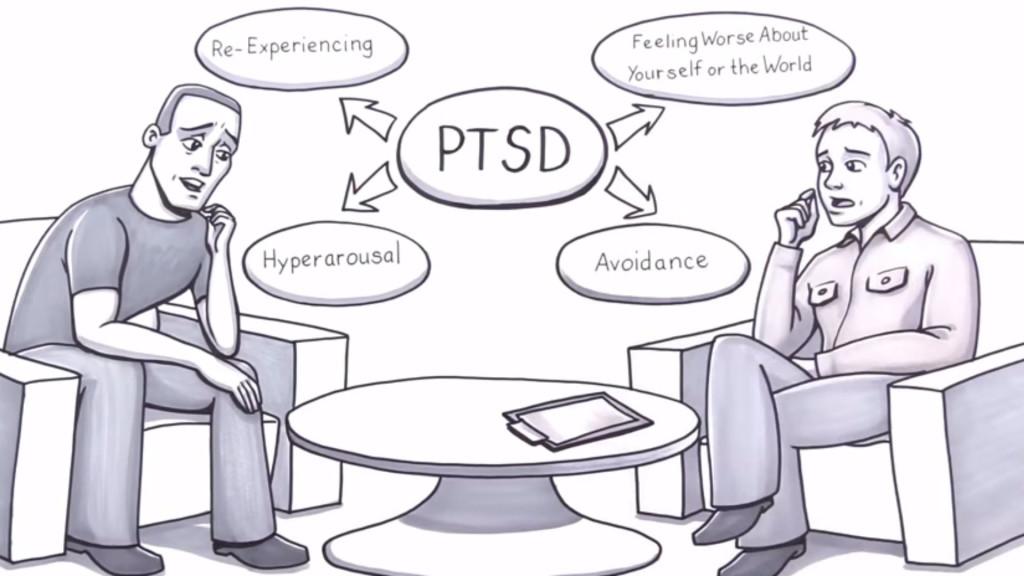 Cartoon of PTSD
